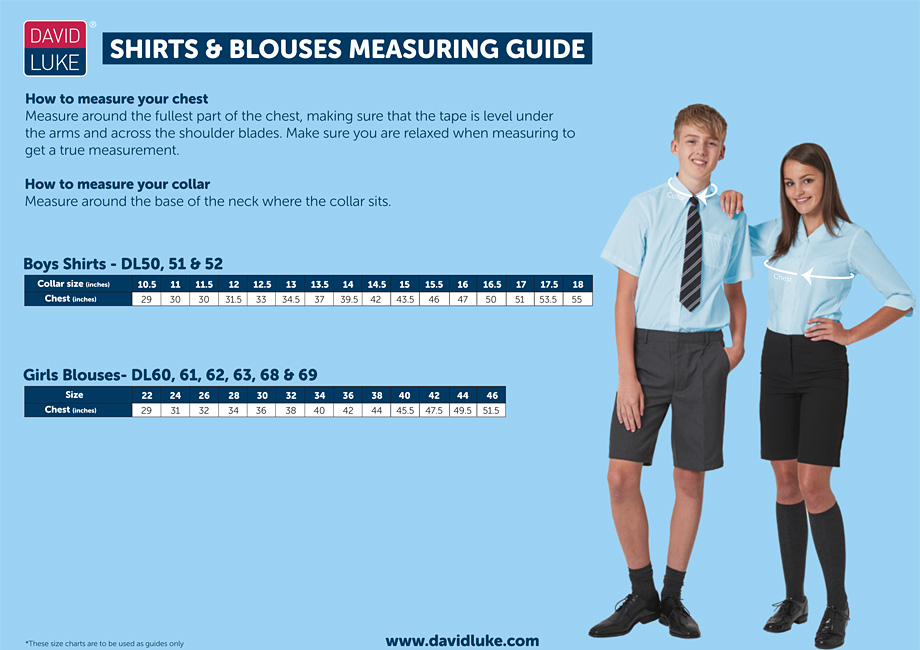 Shirts and Blouses Measuring Guide